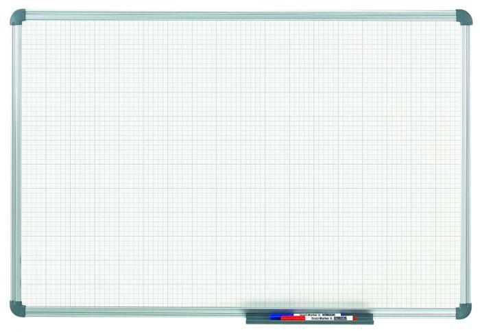 Whiteboard MAULoffice, 60 x 90 cm, ruit 10 mm