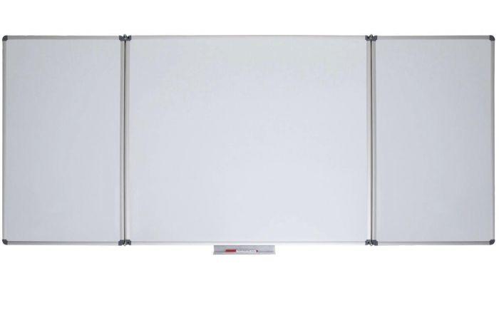 Vijfvlaks whiteboard MAULstandaard, 100 x 150/300 cm, gelakt staal