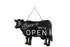 Tekstbord Koe (metaal) Open/Closed