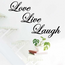 Muursticker Love Live Laugh