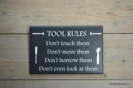 Tekstbord Tool Rules