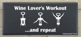 Tekstbord Wine lover's workout