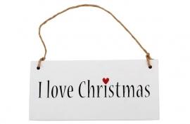 Tekstbordje I love Christmas