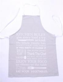 Schort Kitchen Rules, grijs