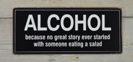 Tekstbord Alcohol