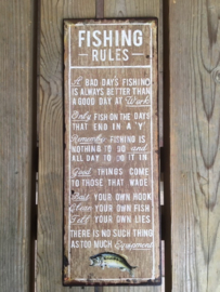 Tekstbord Fishing Rules