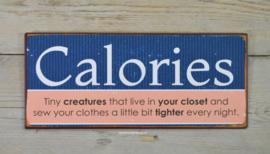 Tekstbord Calories