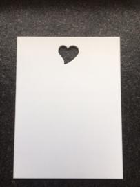 """Tekstbord """"Eigen tekst"""", 30 x 40 met uitgezaagd hartje"""