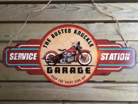 Tekstbord The Busted Knuckle Garage (schild)
