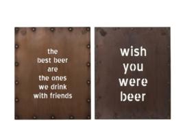 Tekstbord Beer, 2 ass.