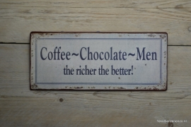 Tekstbord Coffee - Chocolate - Men