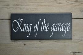 Tekstbord King of the garage