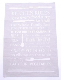 Keukendoek Kitchen Rules, grijs