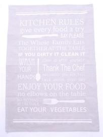 Keukendoek Kitchen Rules, grijs