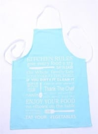 Schort Kitchen Rules, turquoise