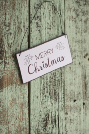Tekstbord Merry Christmas (klein)