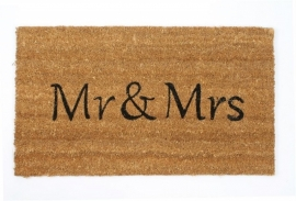 Deurmat Mr & Mrs