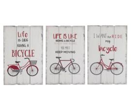Tekstbord Bicycle, 3 ass.