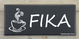 Tekstbord Fika (koffie)