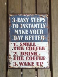 Tekstbord 3 Easy steps