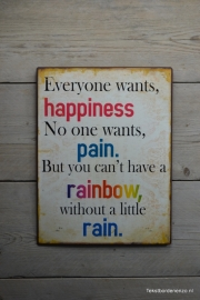 Tekstbord Everyone wants happiness...
