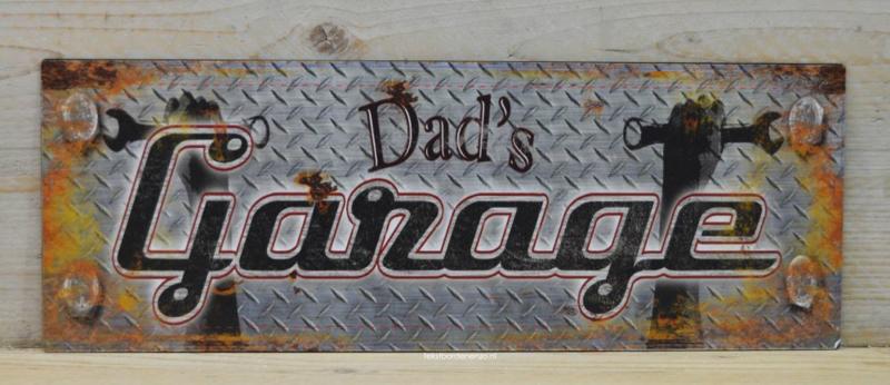 Tekstbord Dad's Garage (smal)