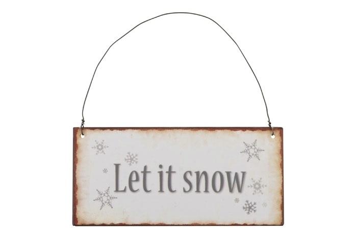 Tekstbordje Let it snow