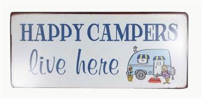 Tekstbord Happy campers live here