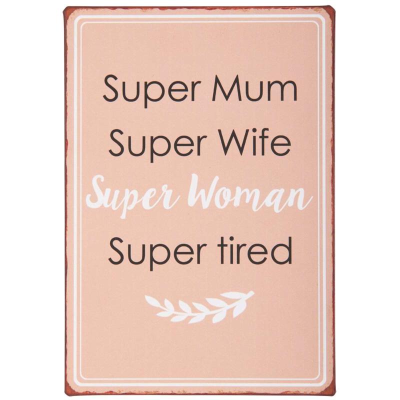 Tekstbord Super Mum
