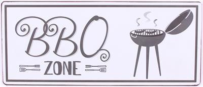 Tekstbord BBQ zone