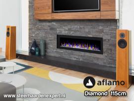 Aflamo Diamond 115cm - Inbouw haard elektrisch
