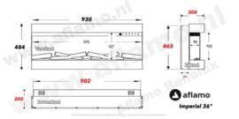 Aflamo Imperial 36 | 93cm - Elektrische haard driezijdig