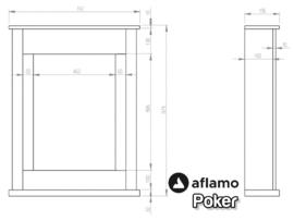 Aflamo Poker Beton-Look grijs  - Smalle schouw met LED haard