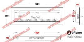 Aflamo Pride Mansfield 166cm- Elektrische inbouwhaard