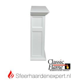 Classicflame schouw Sula wit  met elektrische sfeerhaard CF28