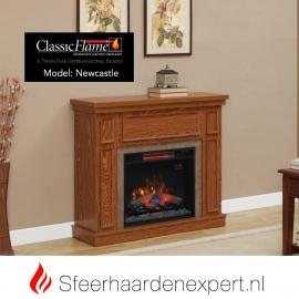 Classic Flame elektrische sfeerhaard met schouw New Castle Eiken
