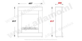 Aflamo Smart Grijs - Schouw ombouw met elektrische sfeerhaard LED40