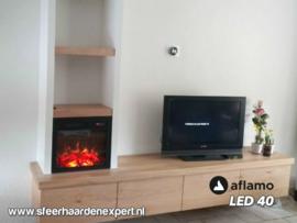 Aflamo LED  40 - Elektrische inbouwhaard 49 x 43cm