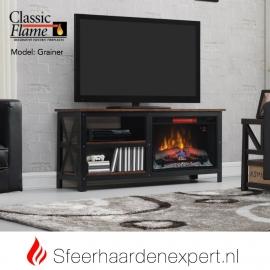 TV meubel Classicflame Grainger van metaal en hout met sfeerhaard CF26