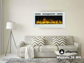 Aflamo Majestic 92cm wit - Elektrische wandhaard