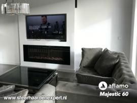 Aflamo Majestic 152cm breed - Elektrische inbouw sfeerhaard