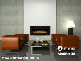 Aflamo Malibu 90cm zwart - Elektrische muur wandhaard