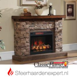 Classicflame schouw Stacked Stone elektrische sfeerhaard CF28