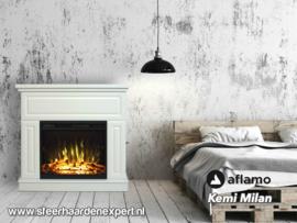 Aflamo Kemi Milan -Schouw met elektrische sfeerhaard
