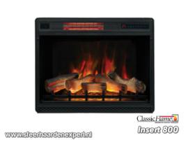 Classicflame Insert 800 met 3D vlam effect en verwarming