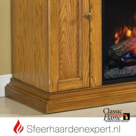 TV meubel Classic Flame elektrische sfeerhaard met schouw Cannes Eiken