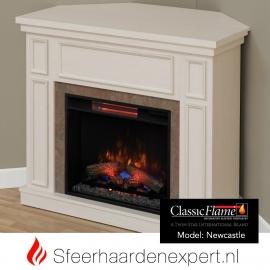 Classic Flame elektrische sfeerhaard met schouw New Castle Wit