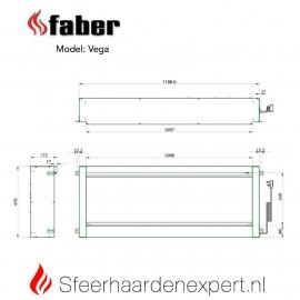 Dimplex Vega 110cm elektrische brede inbouw sfeerhaard