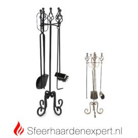 Houthaard accessoire garnituur met veger/blik/pook Z124