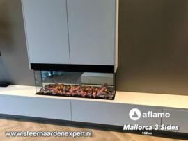 Aflamo Mallorca 3-Sides 152cm - 3 Zijdige elektrische inbouw sfeerhaard